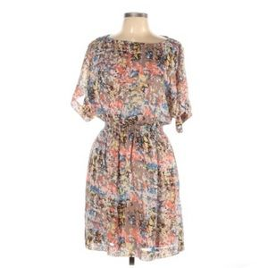 Eliza J Multicolored Abstract Boho Mini Dress 12P